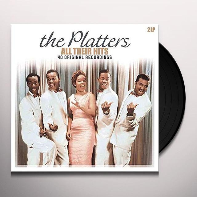 The Platters ALL THEIR HITS Vinyl Record - Holland Import