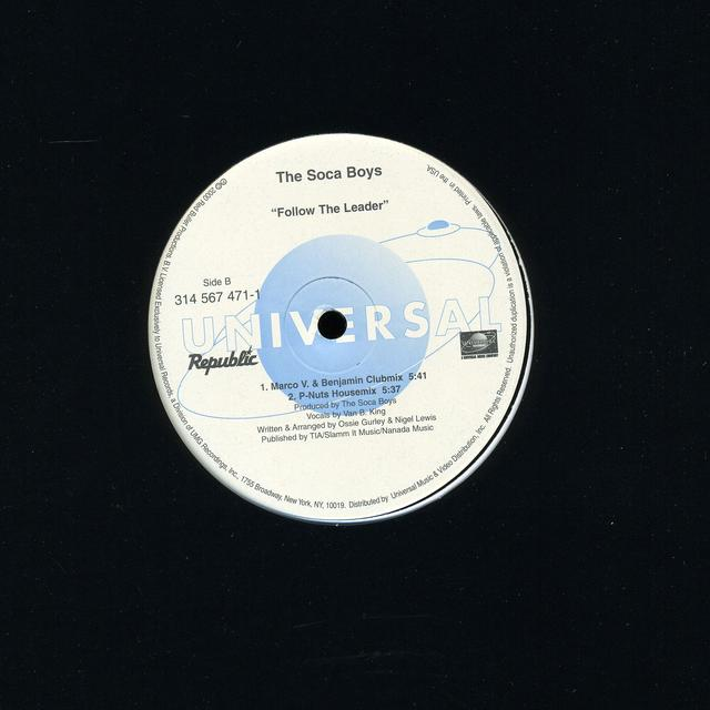 Soca Boys FOLLOW THE LEADER Vinyl Record