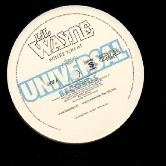 Lil Wayne WHERE YOU AT? Vinyl Record
