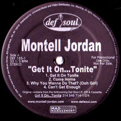 Montell Jordan GET IT ON TONITE Vinyl Record