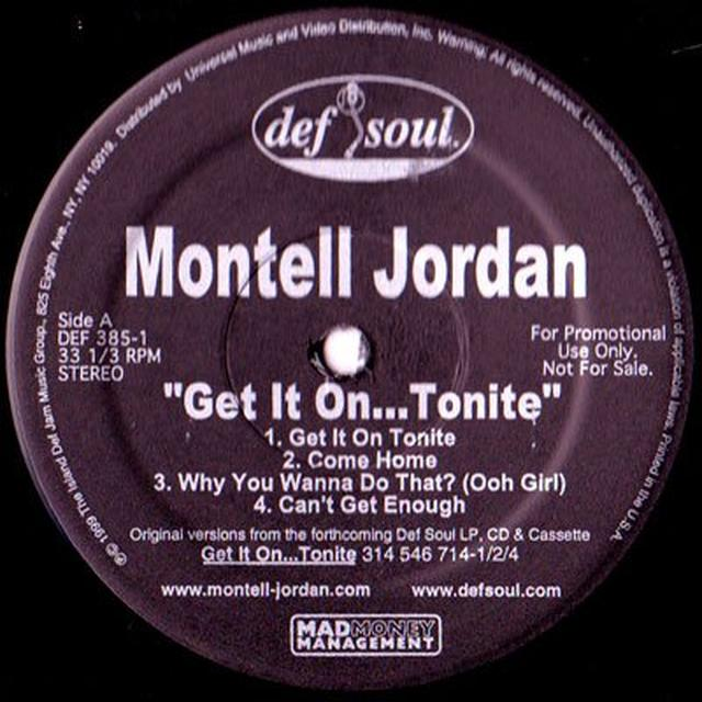 Montell Jordan GET IT ON TONITE Vinyl Record