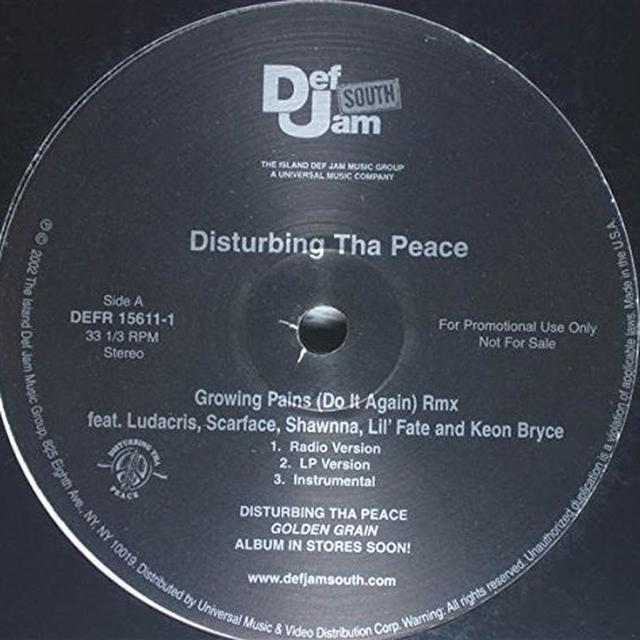 DISTURBING THA PEACE CLICK GROWING PAINS Vinyl Record