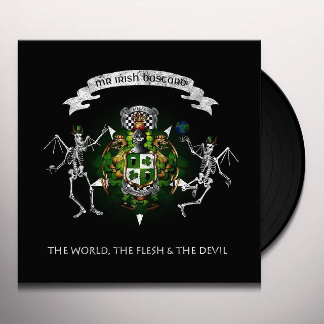 Mr. Irish Bastard THE WORLD THE FLESH & THE DEVIL Vinyl Record - Green Vinyl