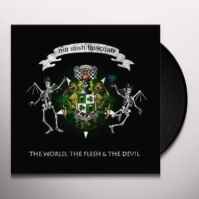 Mr. Irish Bastard THE WORLD THE FLESH & THE DEVIL Vinyl Record - Green Vinyl