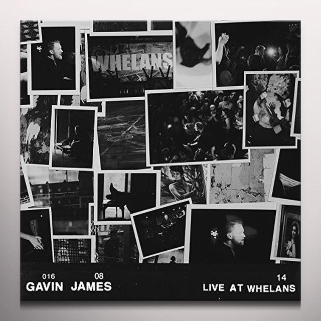 Gavin James LIVE AT WHELANS (CLEAR VINYL) Vinyl Record - Colored Vinyl, Holland Import