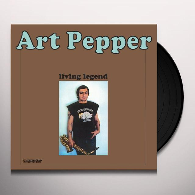 Art Pepper LIVING LEGEND Vinyl Record
