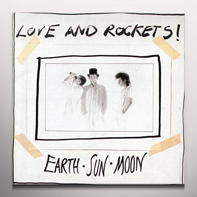 Love & Rockets EARTH SUN MOON Vinyl Record - Gray Vinyl, Limited Edition