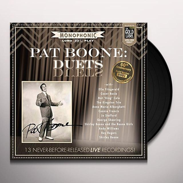 Pat Boone DUETS Vinyl Record - Autographed