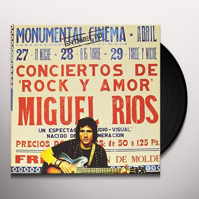 Miguel Rios CONCIENTO DE ROCK & AMOR Vinyl Record - Spain Import
