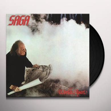 Saga WORLDS APART Vinyl Record - Holland Import