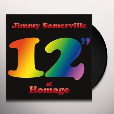 Jimmy Somerville 12 OF HOMAGE Vinyl Record - UK Import