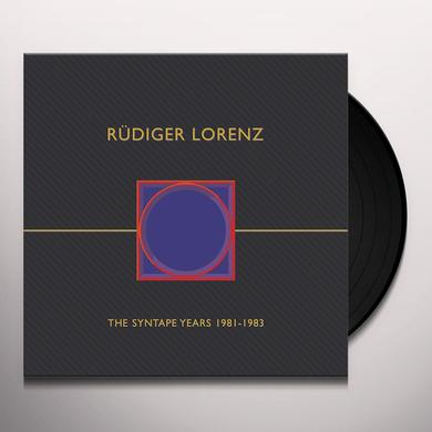 Rudiger Lorenz SYNTAPE YEARS 1981-1983 Vinyl Record