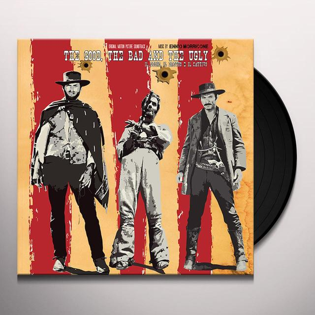 Ennio Morricone GOOD THE BAD THE UGLY / O.S.T. Vinyl Record - Black Vinyl, 180 Gram Pressing, Poster