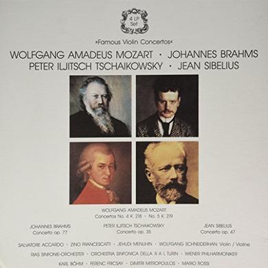 Mozart FAMOUS VIOLIN CONCERTOS Vinyl Record