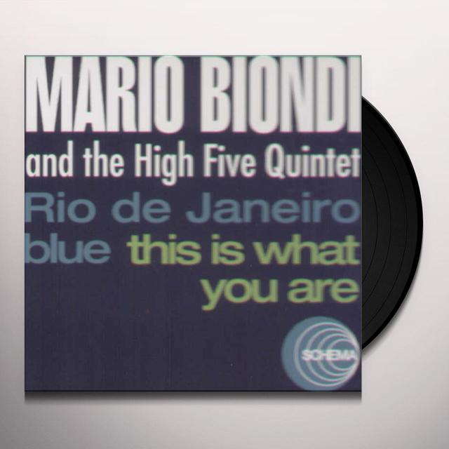 Mario Biondi / High Five Quintet RIO DE JANEIRO BLUES / THIS IS WHAT YOU ARE Vinyl Record - Italy Import