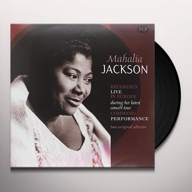 Mahalia Jackson RECORDED LIVE IN EUROPE Vinyl Record