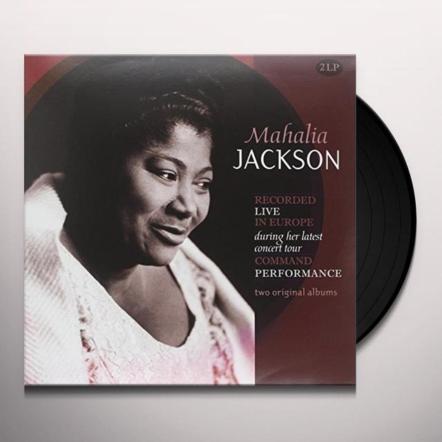 Mahalia Jackson RECORDED LIVE IN EUROPE Vinyl Record - Holland Import