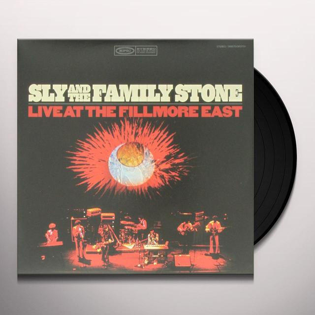 Sly & The Family Stone LIVE AT THE FILLMORE Vinyl Record - Gatefold Sleeve