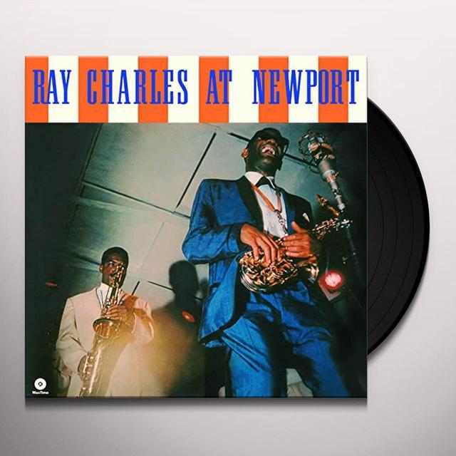 Ray Charles AT NEWPORT Vinyl Record - Spain Import
