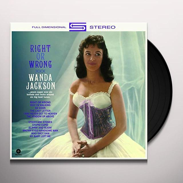 Wanda Jackson RIGHT OR WRONG Vinyl Record - Spain Import
