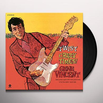 Gene Vincent TWIST CRAZY TIMES Vinyl Record - Spain Release