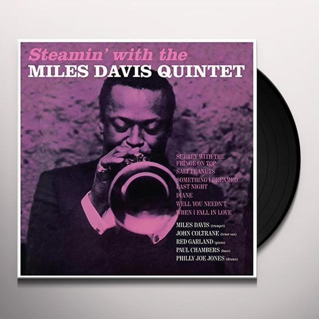 Miles Davis STEAMIN' Vinyl Record - Spain Import