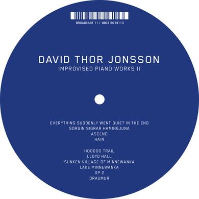 David Thor Jonsson IMPROVISED PIANO WORKS II Vinyl Record