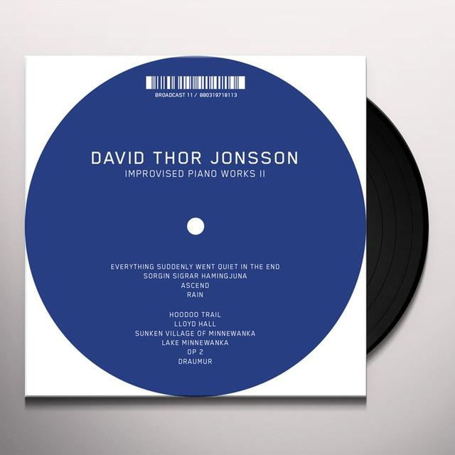 David Thor Jonsson IMPROVISED PIANO WORKS II Vinyl Record