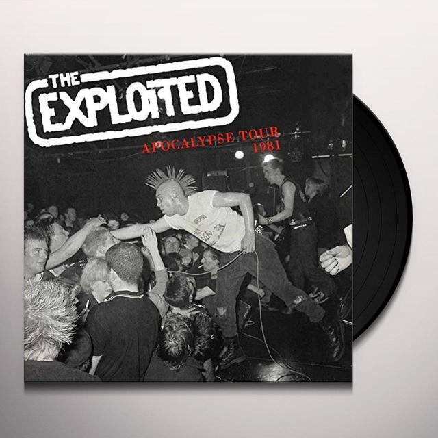 The Exploited APOCALYPSE TOUR 1981 Vinyl Record