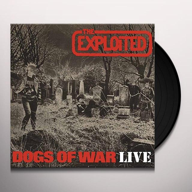 The Exploited DOGS OF WAR LIVE Vinyl Record