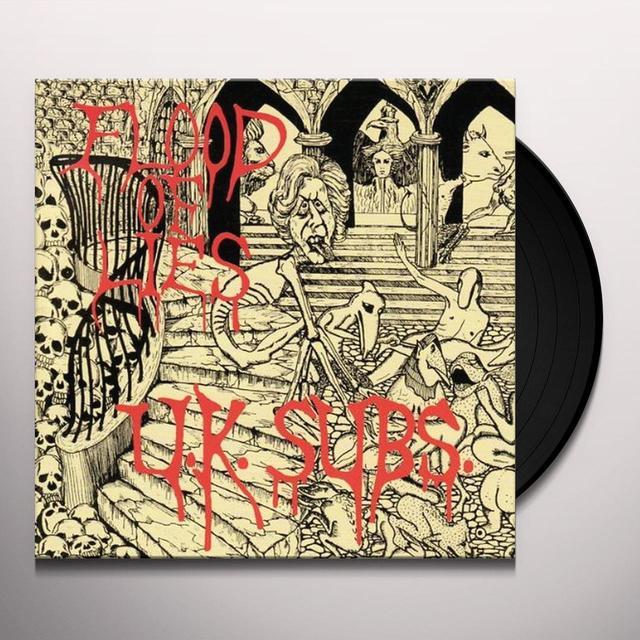 U.K. Subs FLOOD OF LIES Vinyl Record - Gatefold Sleeve