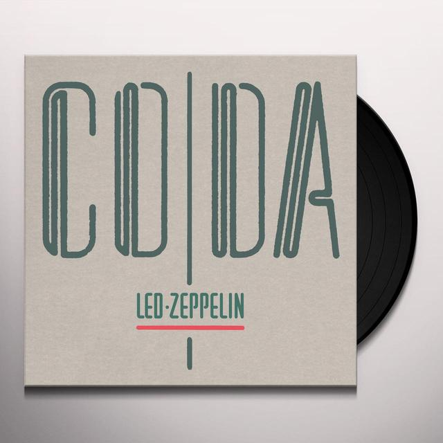 Led Zeppelin CODA Vinyl Record - 180 Gram Pressing, Deluxe Edition, Remastered