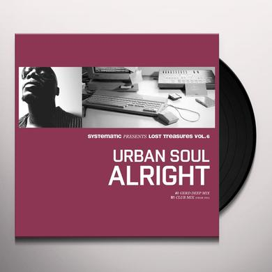 Urban Soul LOST TREASURES 6: ALRIGHT (REMIXES) Vinyl Record