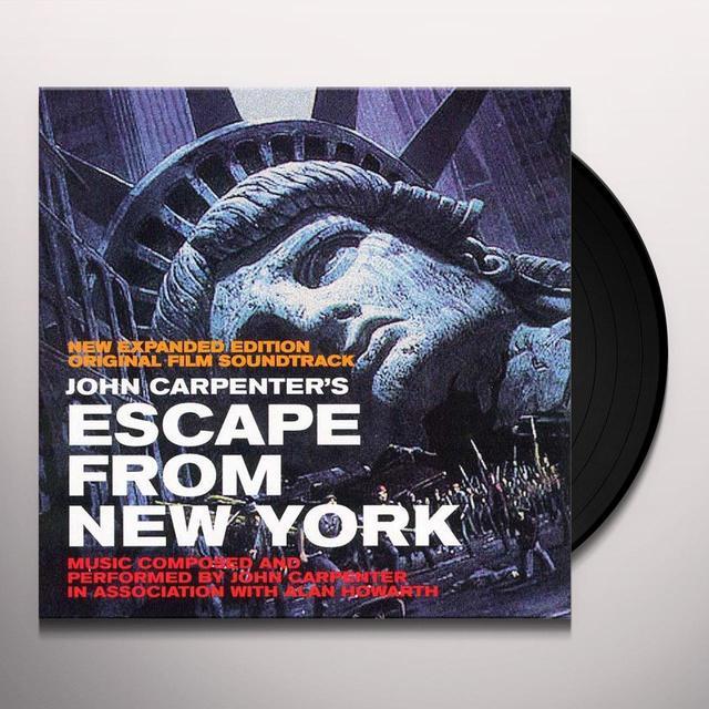 John Carpenter ESCAPE FROM NEW YORK / O.S.T. Vinyl Record - Gatefold Sleeve, Limited Edition, 180 Gram Pressing