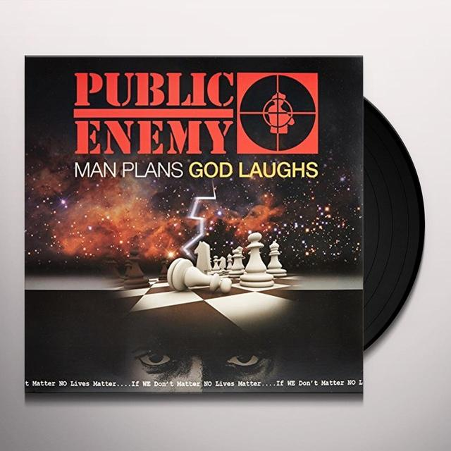 Public Enemy MAN PLANS GOD LAUGHS Vinyl Record