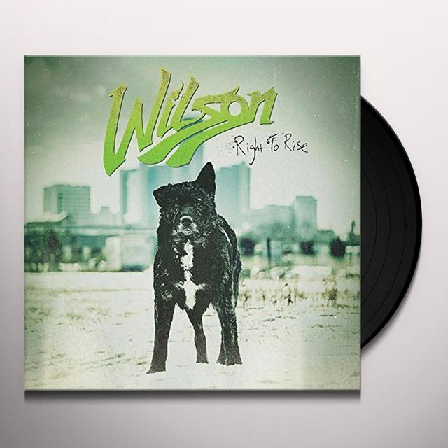 Wilson RIGHT TO RISE Vinyl Record - UK Import
