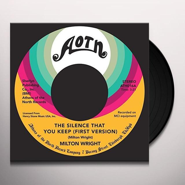 Milton Wright SILENCE THAT YOU KEEP Vinyl Record - UK Import