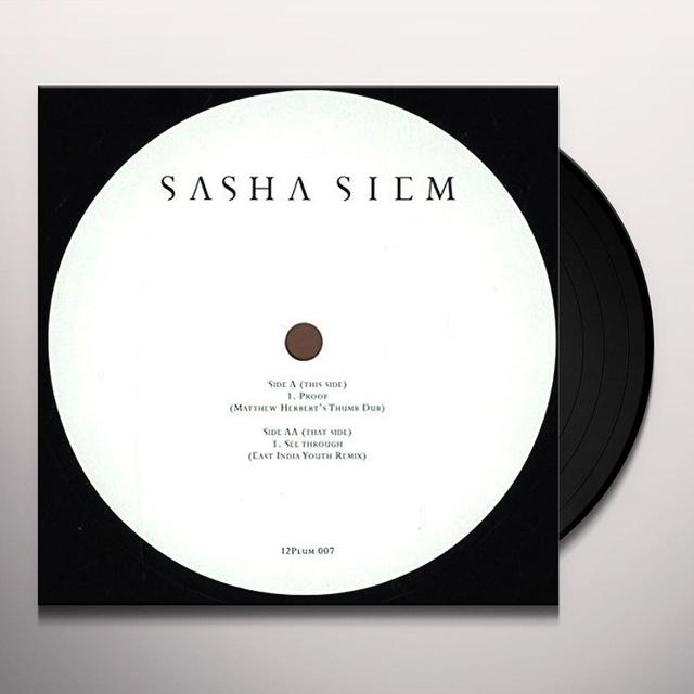 Sasha Siem SEE THROUGH Vinyl Record - UK Import