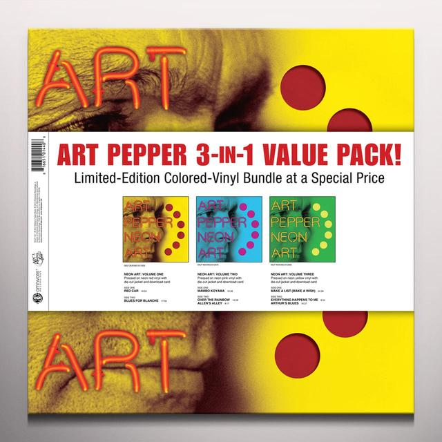 Art Pepper 3 IN 1 VALUE PACK Vinyl Record - Colored Vinyl, Digital Download Included