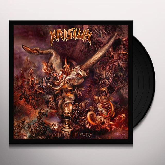 Krisiun FORGED IN FURY Vinyl Record - w/CD, Gatefold Sleeve