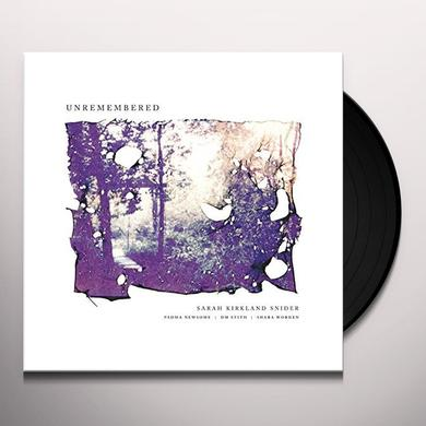 Sarah Kirkland Snider / Padma Newsome / Dm Stith UNREMEMBERED Vinyl Record
