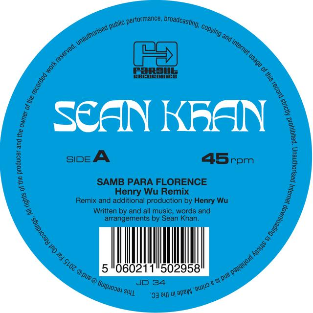 Sean Khan SAMBA PARA FLORENCE / THINGS TO SAY (REMIXES) Vinyl Record