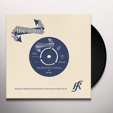 Who REACTION SINGLES (BOX) Vinyl Record
