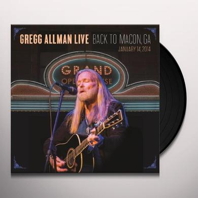 GREGG ALLMAN LIVE: BACK TO MACON GA Vinyl Record