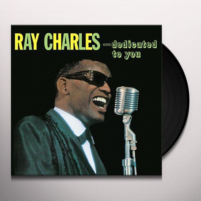 Ray Charles DEDICATED TO YOU Vinyl Record - UK Import