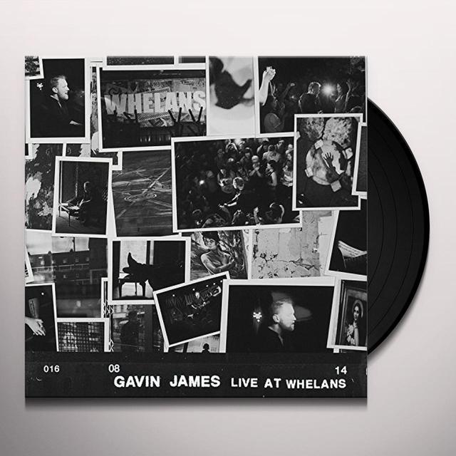 Gavin James LIVE AT WHELANS Vinyl Record - UK Import