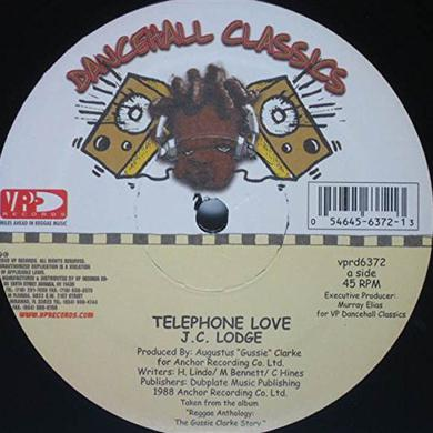 Jc Lodge & Junior Kelly TELEPHONE LOVE Vinyl Record