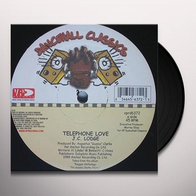 Jc Lodge & Junior Kelly TELEPHONE LOVE Vinyl Record