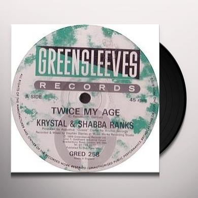 Krystal & Shabba Ranks TWICE MY AGE Vinyl Record