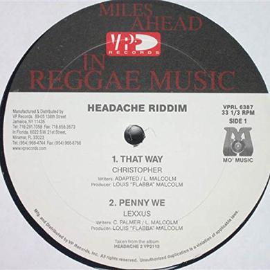 Christopher THAT WAY - HEADACHE RIDDIM VERSION Vinyl Record